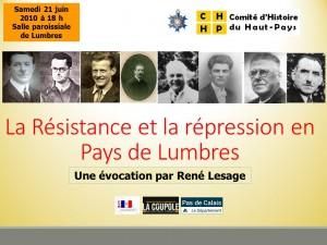Résistance et répression en Pays de Lumbres affiche